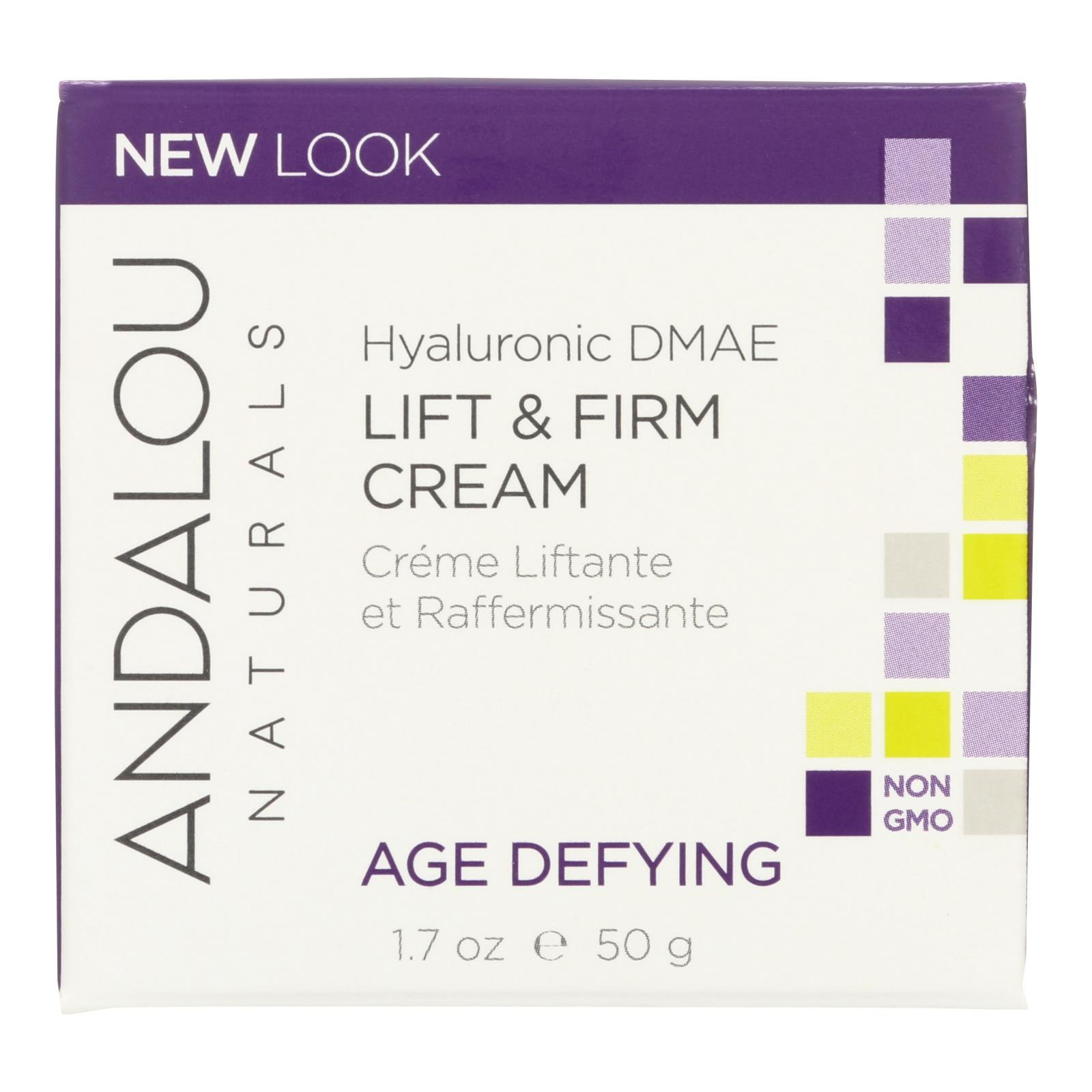 Andalou Naturals Age-defying Hyaluronic Dmae Lift And Firm Cream - 1.7 Fl Oz - BeeGreen