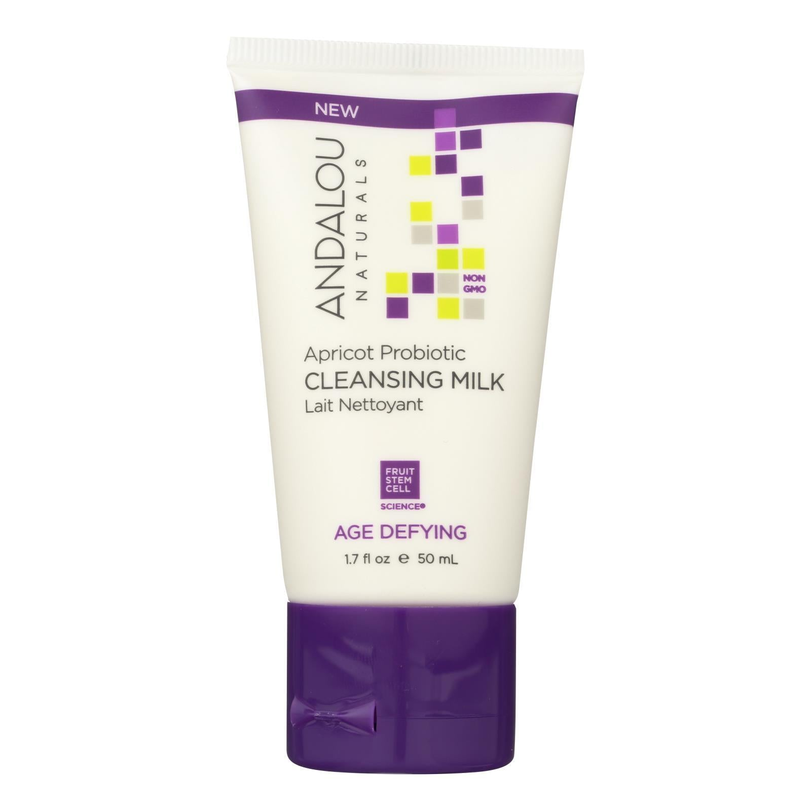 Andalou Naturals Cleansing Milk - Apricot - Probiotic - Case Of 6 - 1.7 Fl Oz - BeeGreen