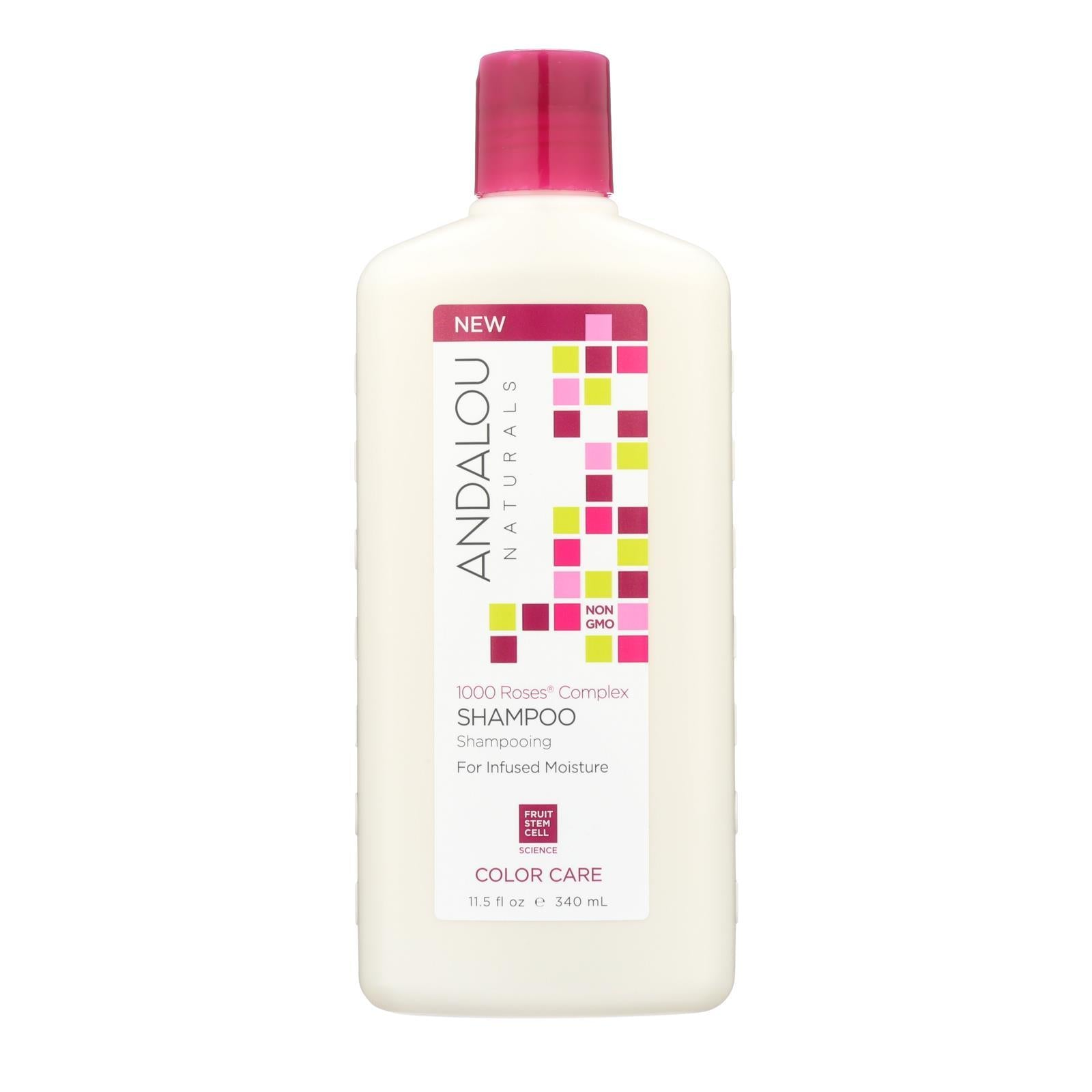 Andalou Naturals Color Care Shampoo -1000 Roses Complex - 11.5 Fl Oz - BeeGreen
