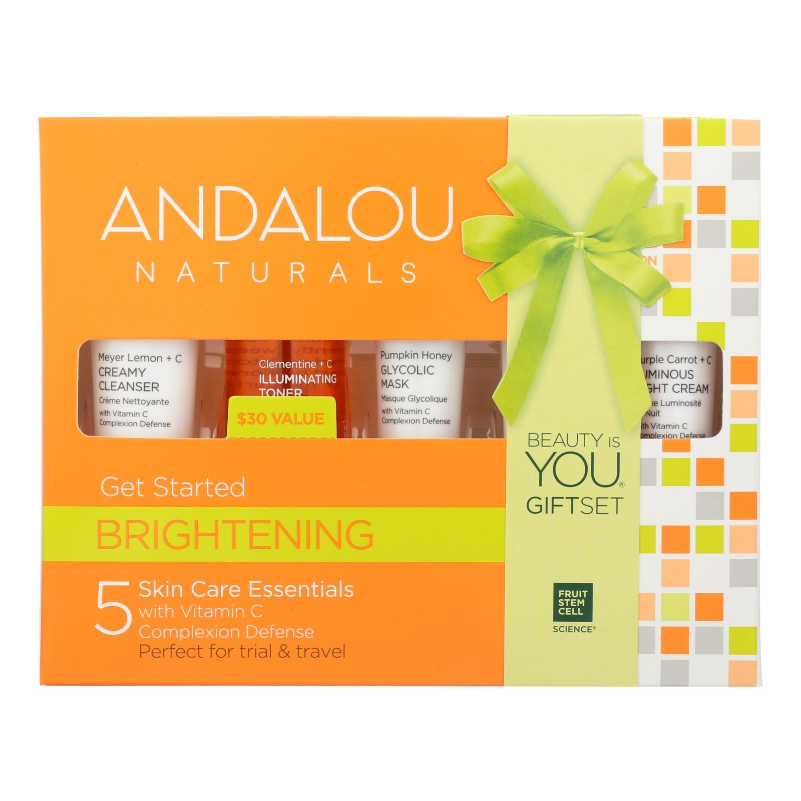 Andalou Naturals Get Started Brightening - 5 Piece Kit - BeeGreen