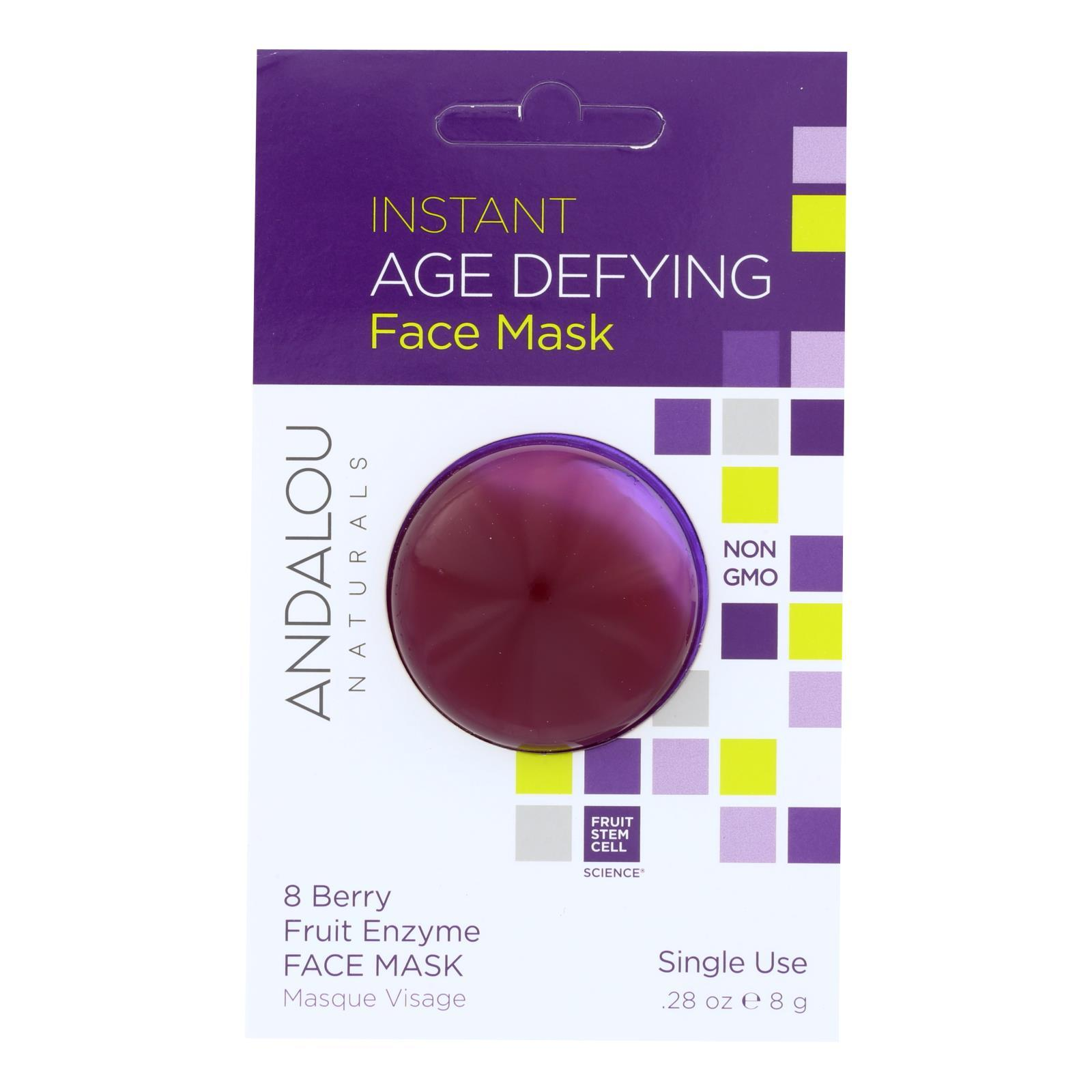 Andalou Naturals Instant Age Defying Face Mask - 8 Berry Fruit Enzyme - Case Of 6 - 0.28 Oz - BeeGreen
