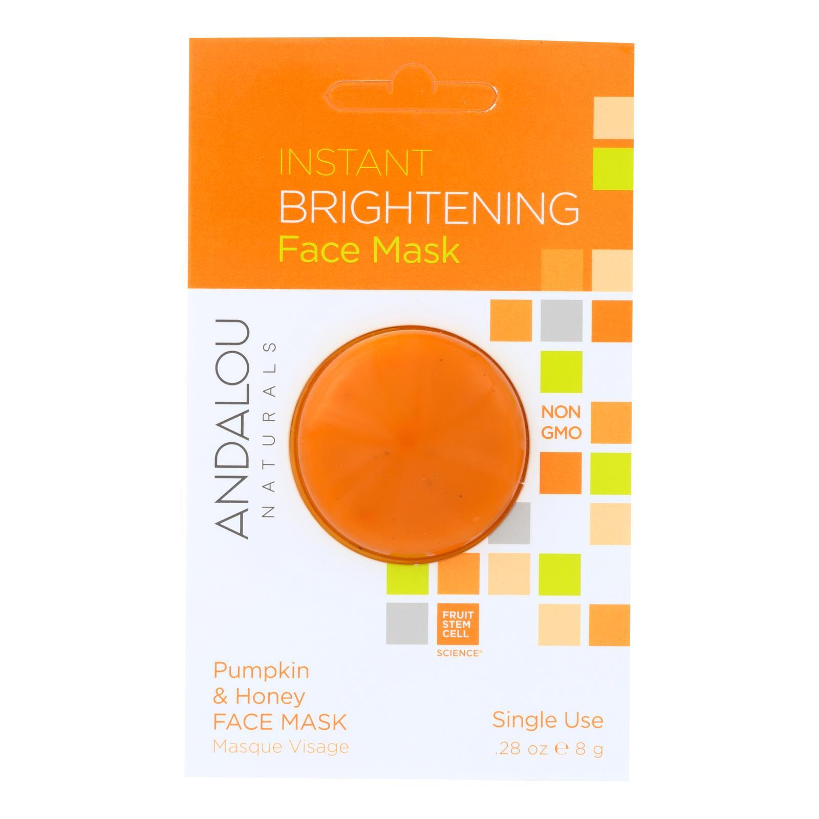 Andalou Naturals Instant Brightening Face Mask - Pumpkin & Honey - Case Of 6 - 0.28 Oz - BeeGreen