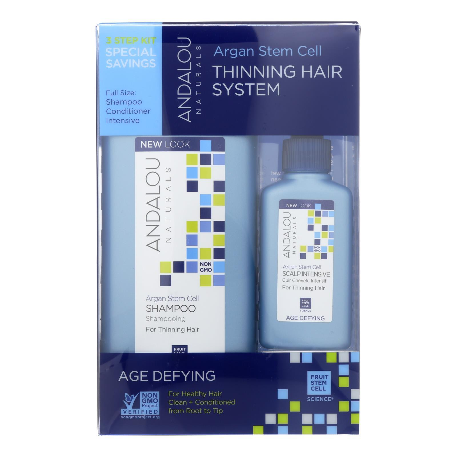 Andalou Naturals Thinning Hair System With Argan Fruit Stem Cells - 3 Pieces - BeeGreen