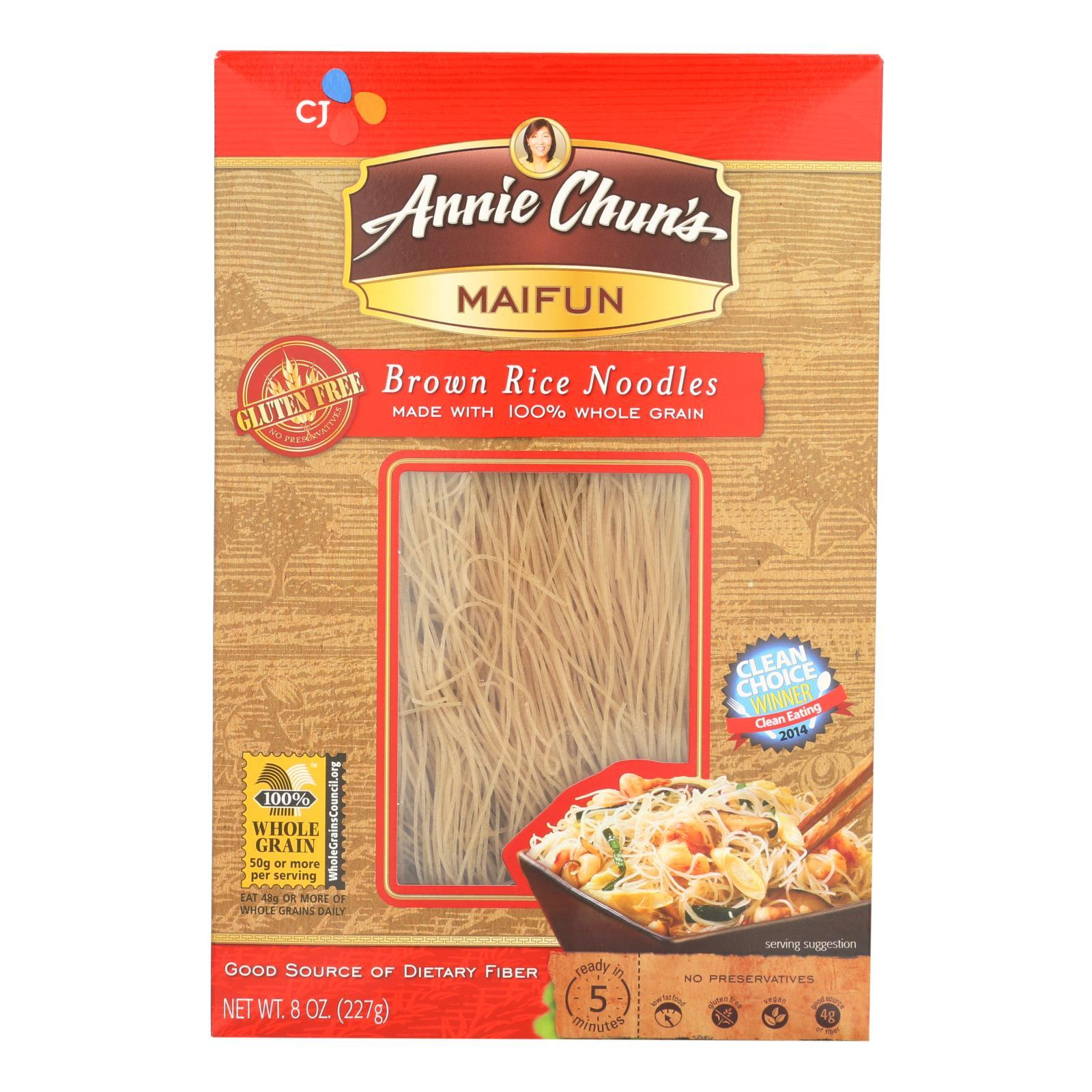 Annie Chun's Maifun Brown Rice Noodles - Case Of 6 - 8 Oz. - BeeGreen