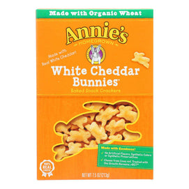 Annie's Homegrown - Crcker Wht Chd Bunny - Case Of 12-7.5 Oz. - BeeGreen