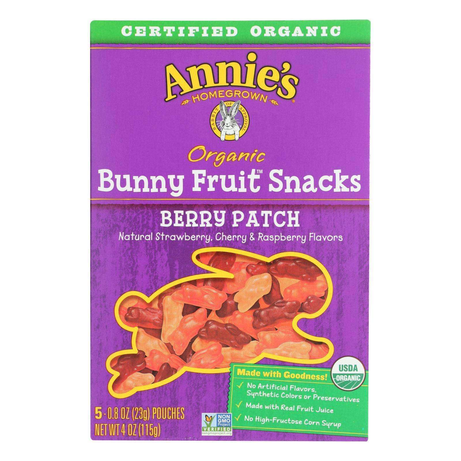 Annie's Homegrown Fruit Snack Berry Patch - Case Of 10 - 4 Oz - BeeGreen