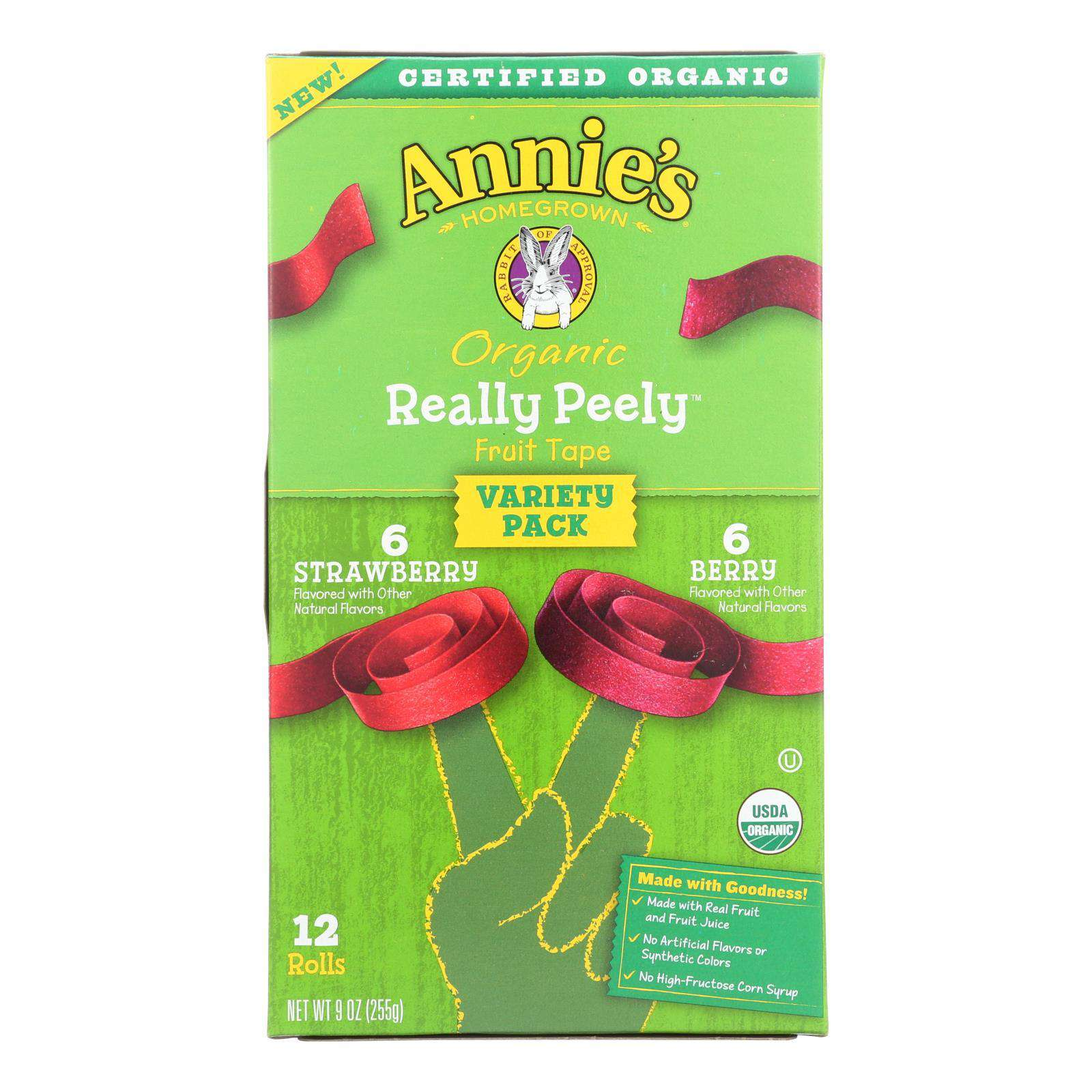 Annie's Homegrown Fruit Snack Fruit Tape - Case Of 6 - 9 Oz - BeeGreen