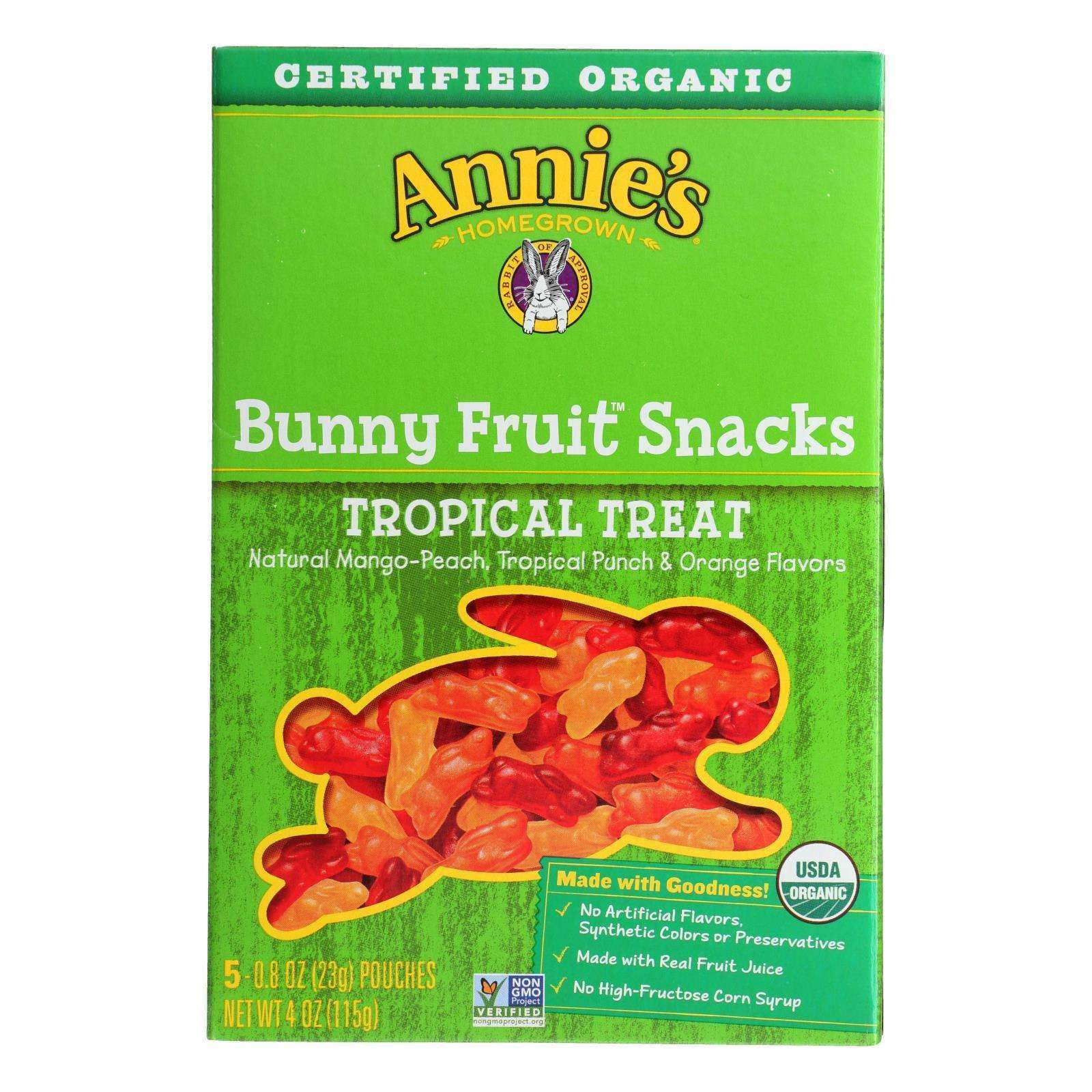 Annie's Homegrown Fruit Snack Tropical Treat - Case Of 10 - 4 Oz - BeeGreen