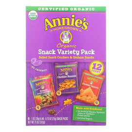 Annie's Homegrown Snack Pack - Organic - Variety - 12ct - Case Of 6 - 12 Count - BeeGreen