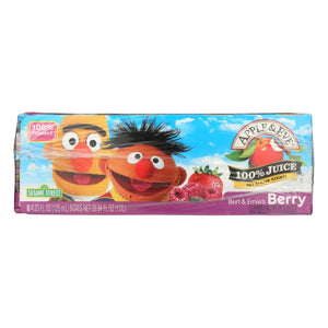 Apple And Eve Sesame Street 100 Percent Juice - Bert And Ernie's Berry - Case Of 5 - 125 Ml - BeeGreen