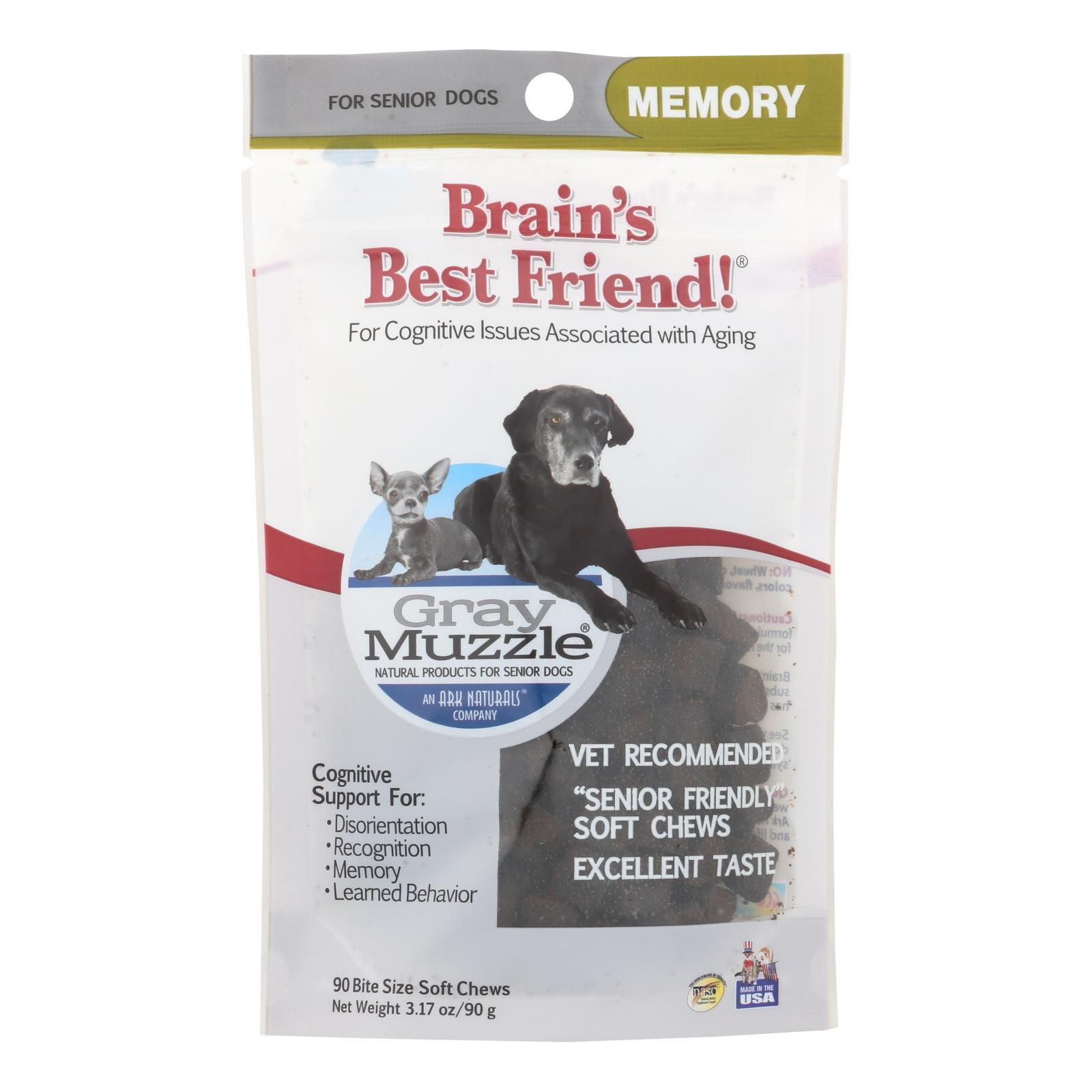 Ark Naturals Brains Best Friend - Gray Muzzle - 90 Chews - 1 Each - BeeGreen