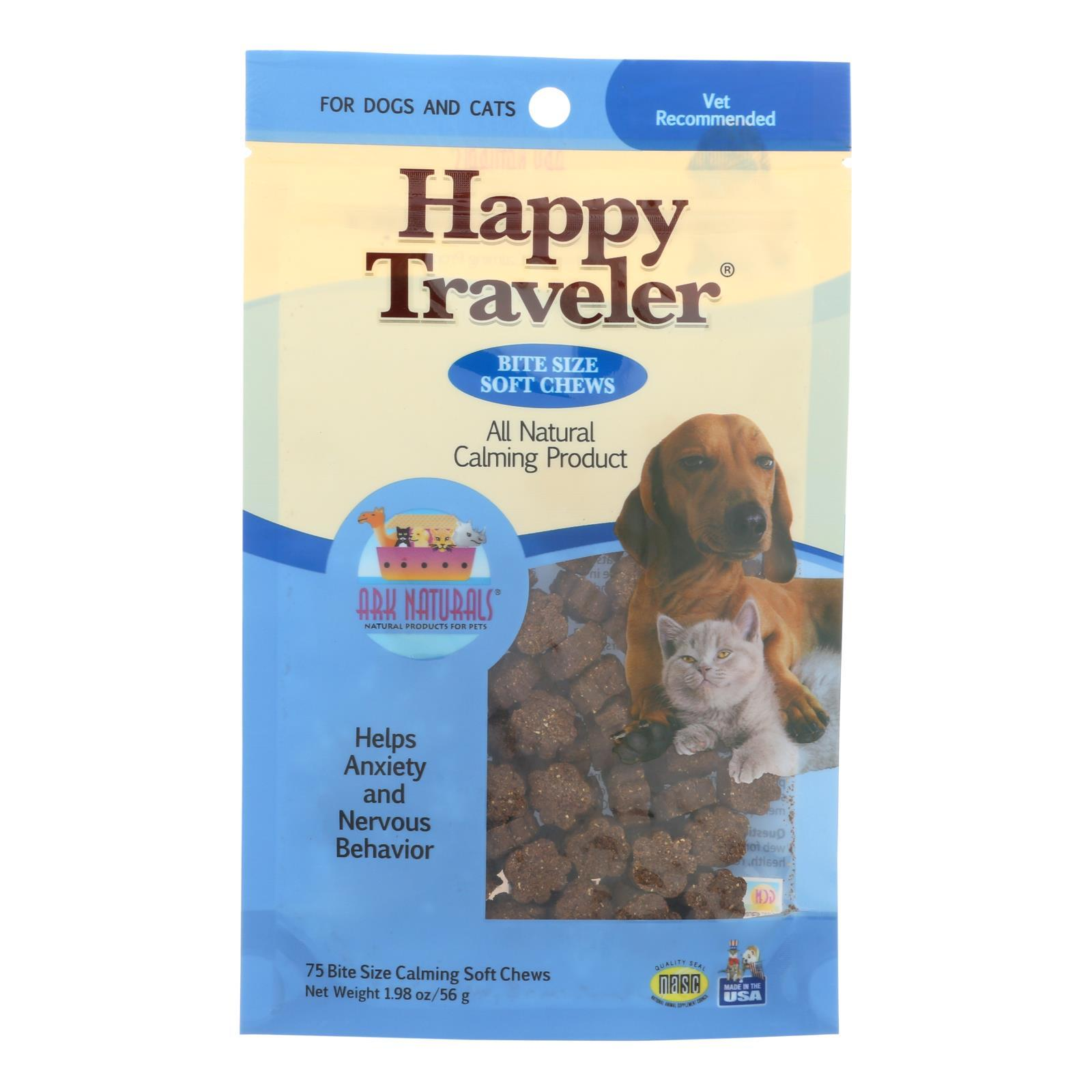 Ark Naturals Happy Traveler For Dogs And Cats - 75 Soft Chews - BeeGreen