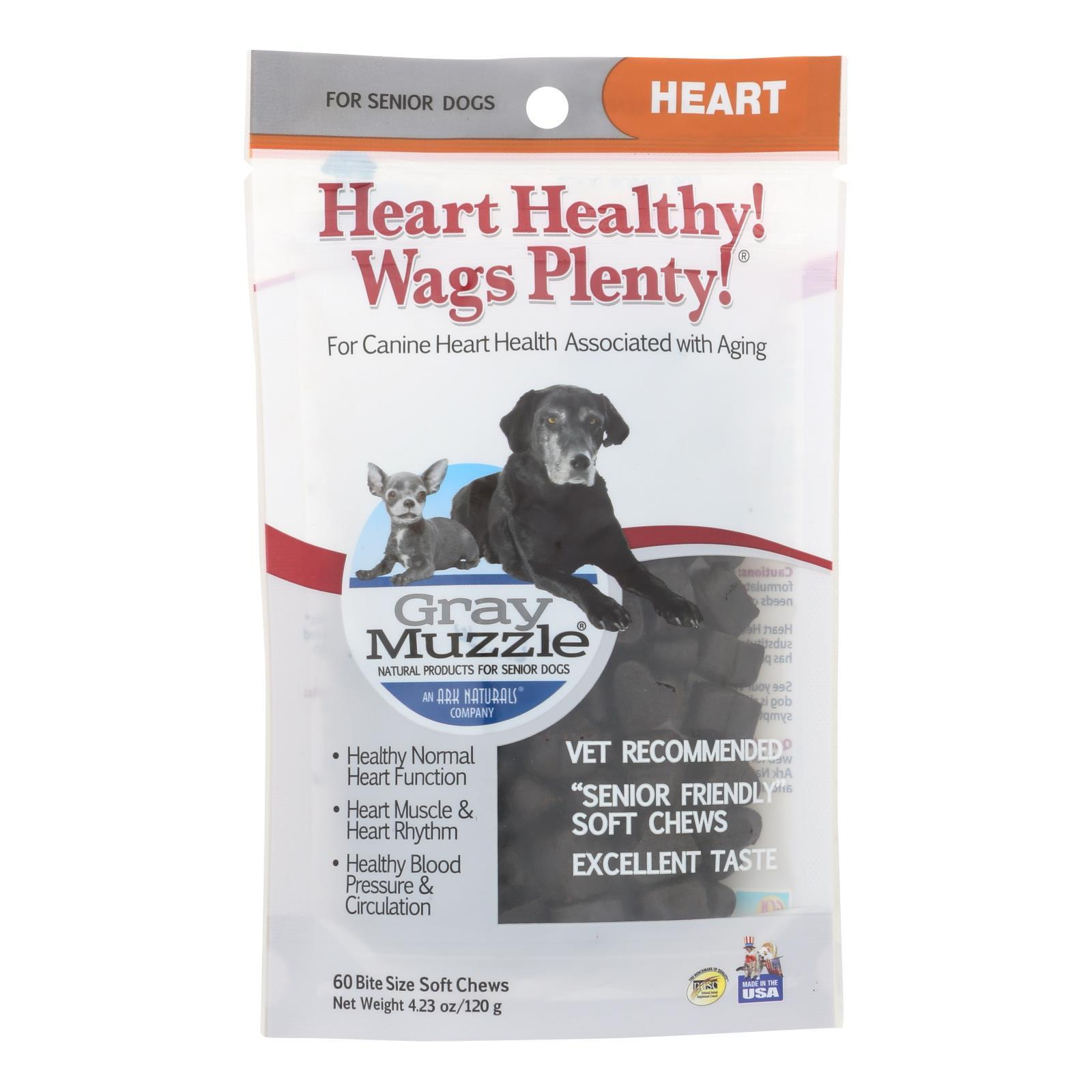 Ark Naturals Heart Healthy Wags Plenty - Gray Muzzle - 60 Count - 1 Each - BeeGreen