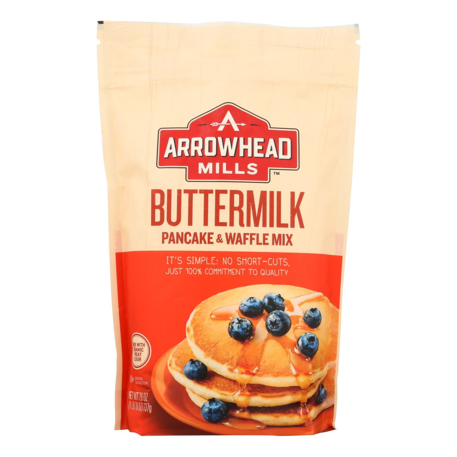 Arrowhead Mills - Organic Buttermilk Pancake And Waffle - Mix - Case Of 6 - 26 Oz. - BeeGreen