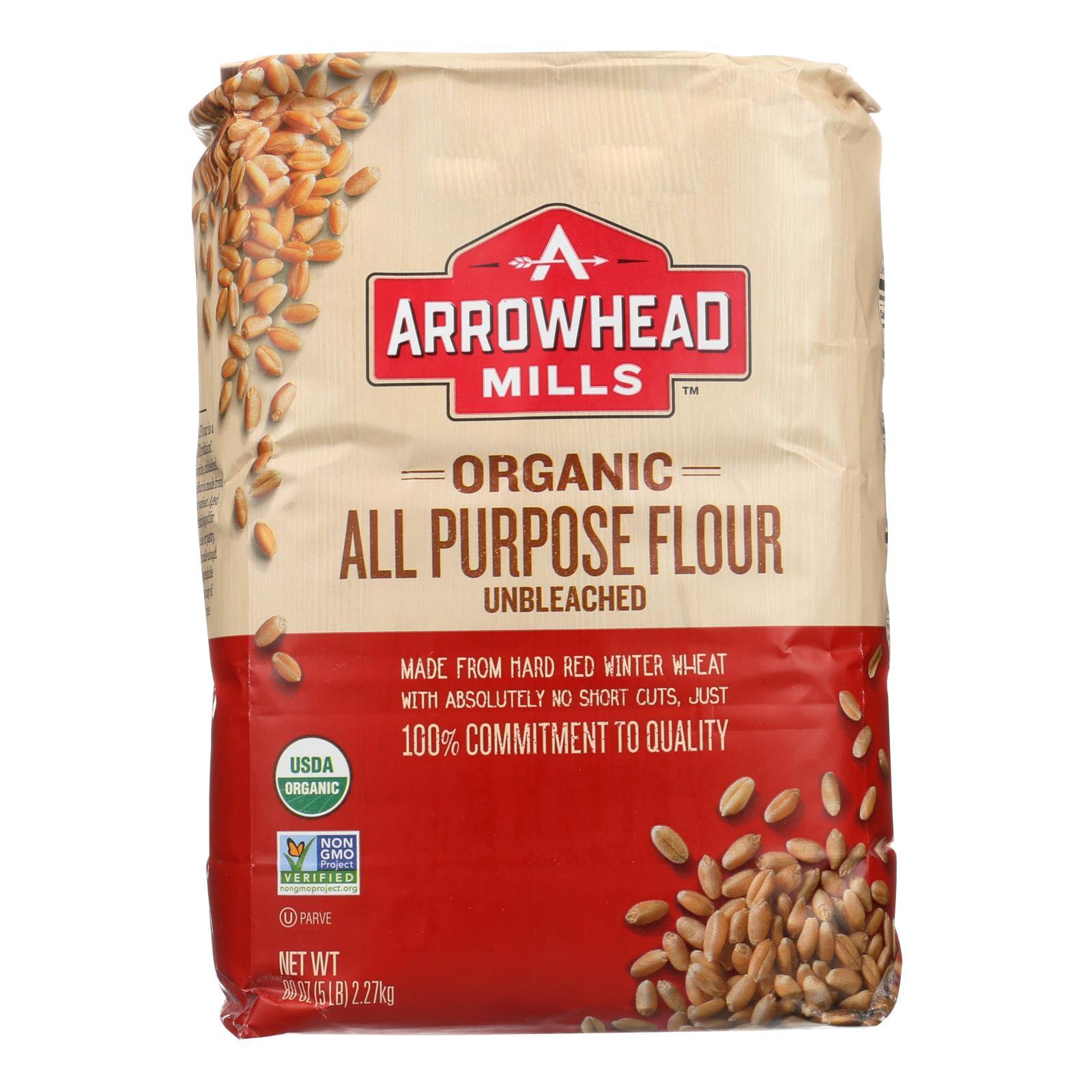 Arrowhead Mills - Organic Enriched Unbleached White Flour - Case Of 8 - 5 - BeeGreen