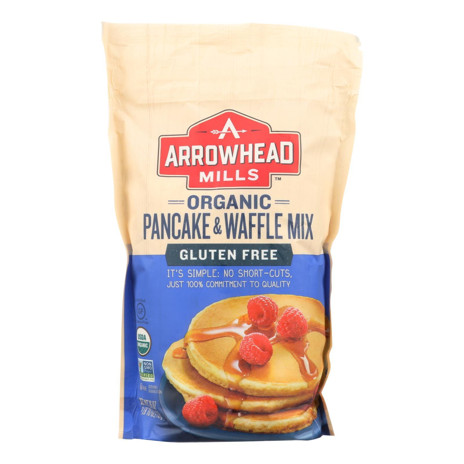 Arrowhead Mills - Organic Pancake And Waffle Mix - Case Of 6 - 26 Oz. - BeeGreen
