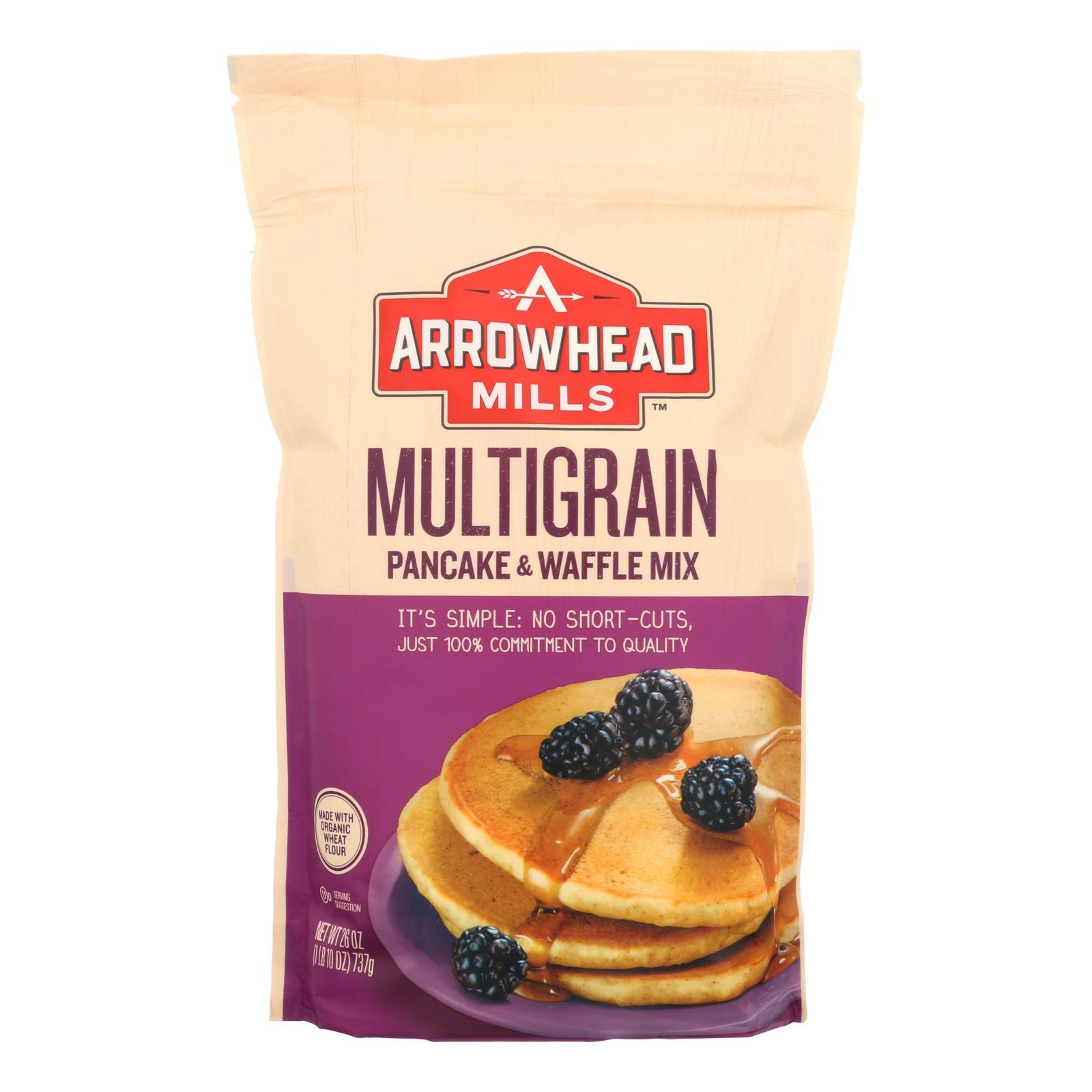 Arrowhead Mills - Pancake And Waffle Mix - Natural Multigrain - Case Of 6 - 26 Oz. - BeeGreen