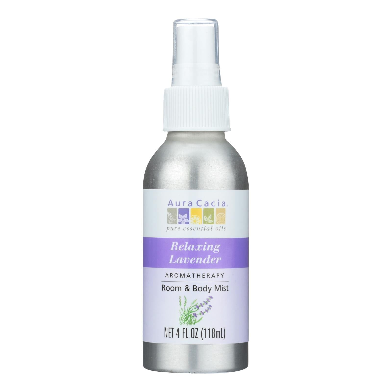 Aura Cacia - Aromatherapy Mist Calming Lavender Harvest - 4 Fl Oz - BeeGreen