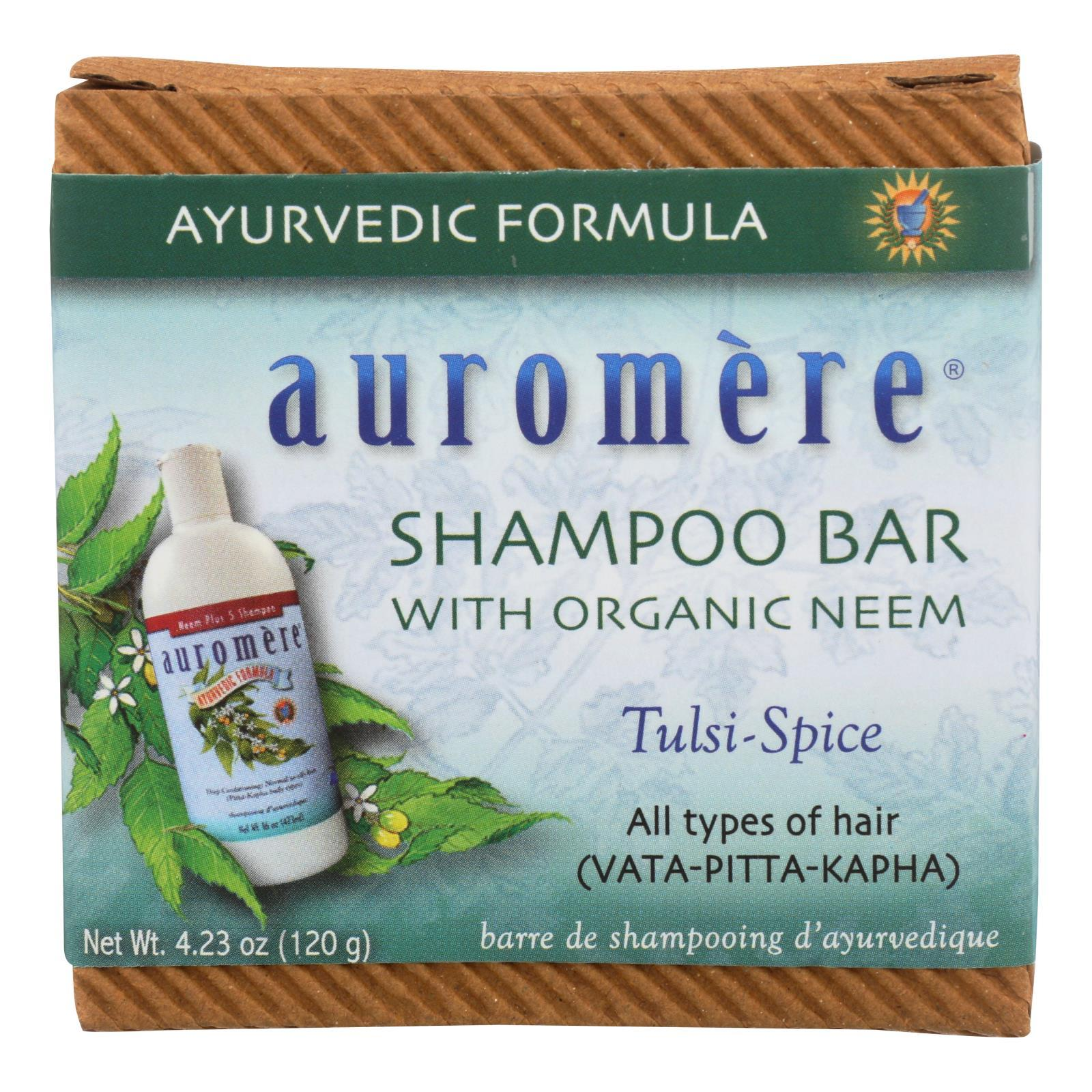 Auromere Shampoo - Tulsi-spice Eco-friendly Non-gmo Vegan-cruelty-free - Case Of 1 - 4.23 Oz. - BeeGreen