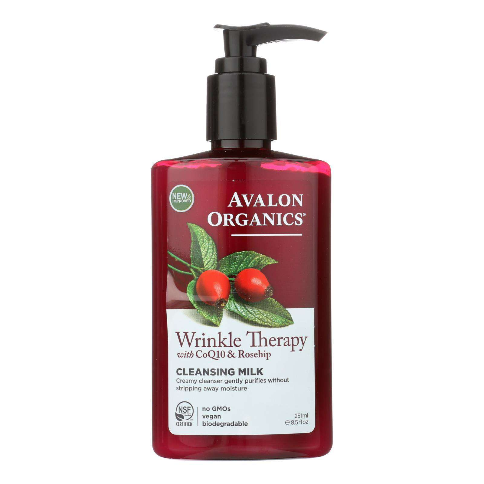 Avalon Organics Coq10 Facial Cleansing Milk - 8.5 Fl Oz - BeeGreen