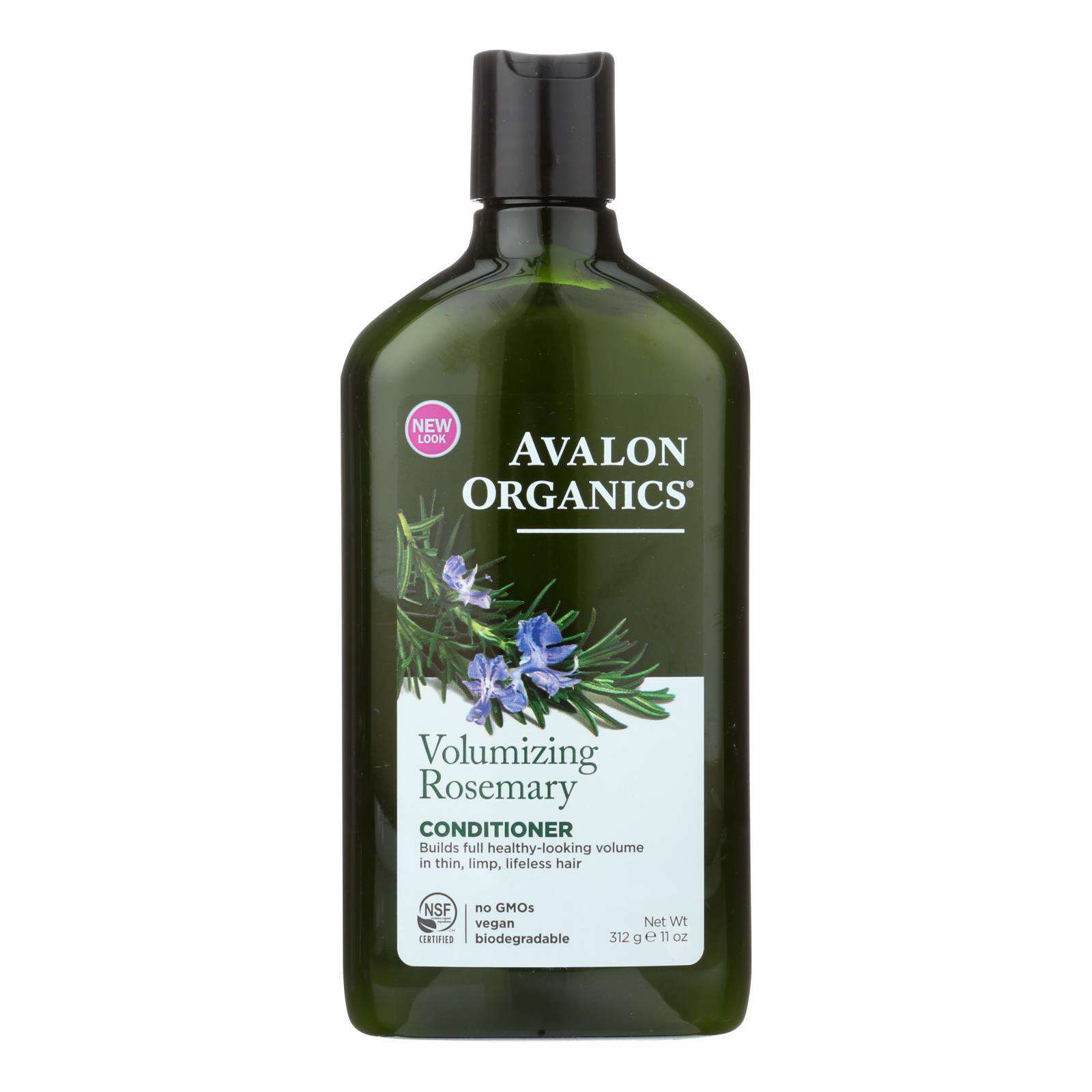 Avalon Organics Volumizing Conditioner With Wheat Protein And Babassu Oil Rosemary - 11 Fl Oz - BeeGreen
