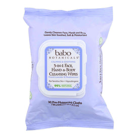 Babo Botanicals - Hand And Body Cleansing Wipes - Lavender And Meadowsweet - Case Of 4 - 30 Count - BeeGreen