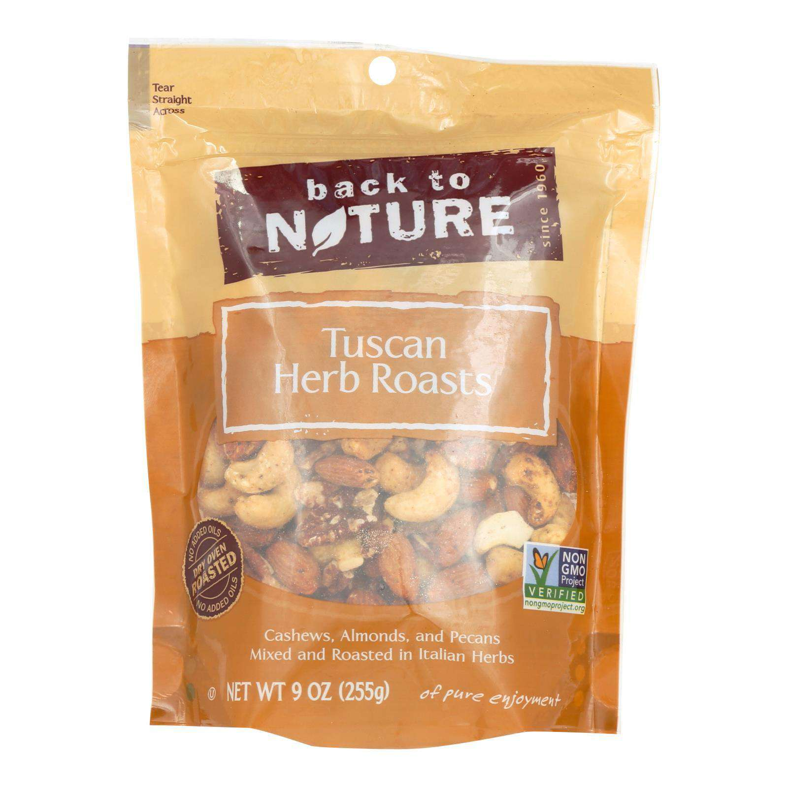 Back To Nature Tuscan Herb Roasts - Case Of 9 - 9 Oz. - BeeGreen