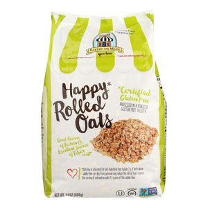 Bakery On Main Happy Rolled Oats - Case Of 4 - 24 Oz. - BeeGreen