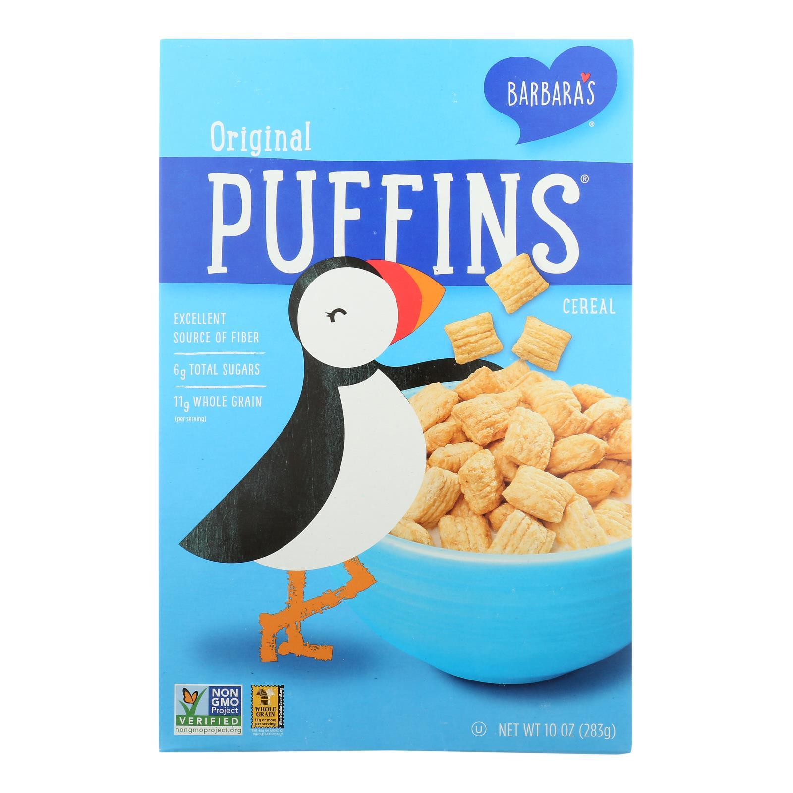 Barbara's Bakery - Puffins Cereal - Original - Case Of 12 - 10 Oz. - BeeGreen