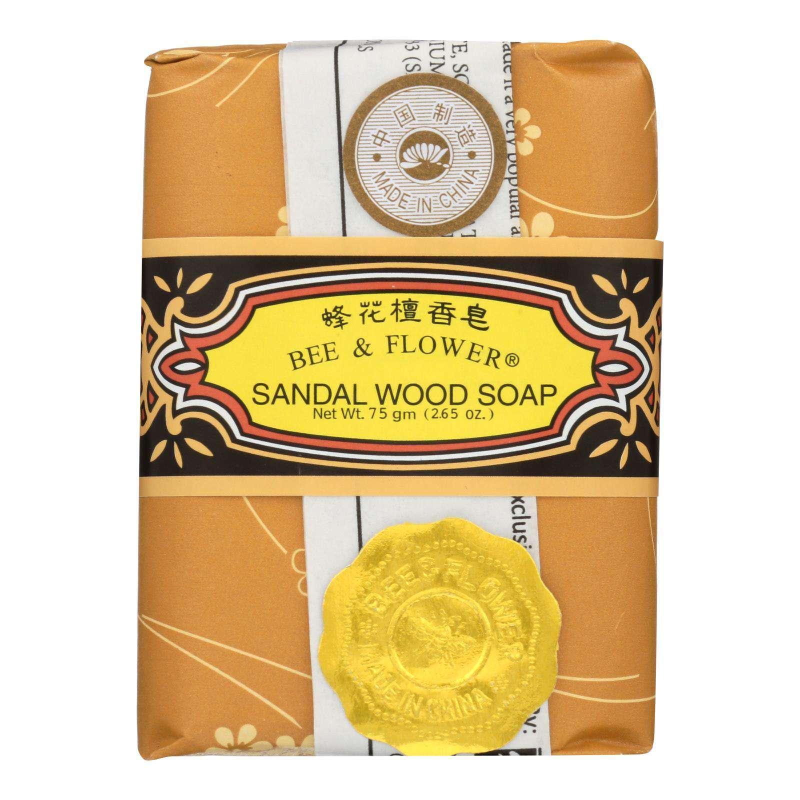 Bee And Flower Soap Sandalwood - 2.65 Oz - Case Of 12 - BeeGreen