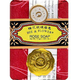 Bee & Flower Soaps Rose Large (4x4.4OZ ) - BeeGreen