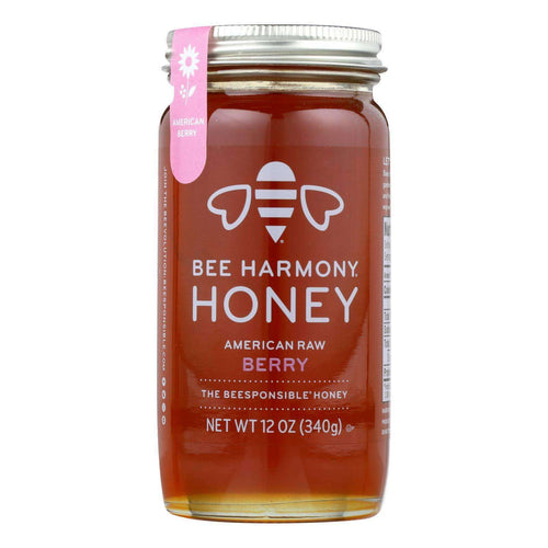 Bee Harmony - Honey - American Raw Berry - Case Of 6-12 Oz. - BeeGreen