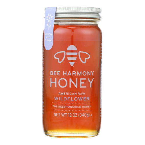 Bee Harmony - Honey - American Raw Wildflower - Case Of 6-12 Oz. - BeeGreen