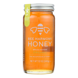 Bee Harmony - Honey - Brazilian Raw Honey - Case Of 6-12 Oz. - BeeGreen
