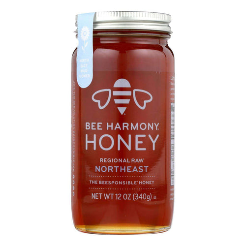 Bee Harmony - Honey - Regional Raw Northeast - Case Of 6-12 Oz. - BeeGreen