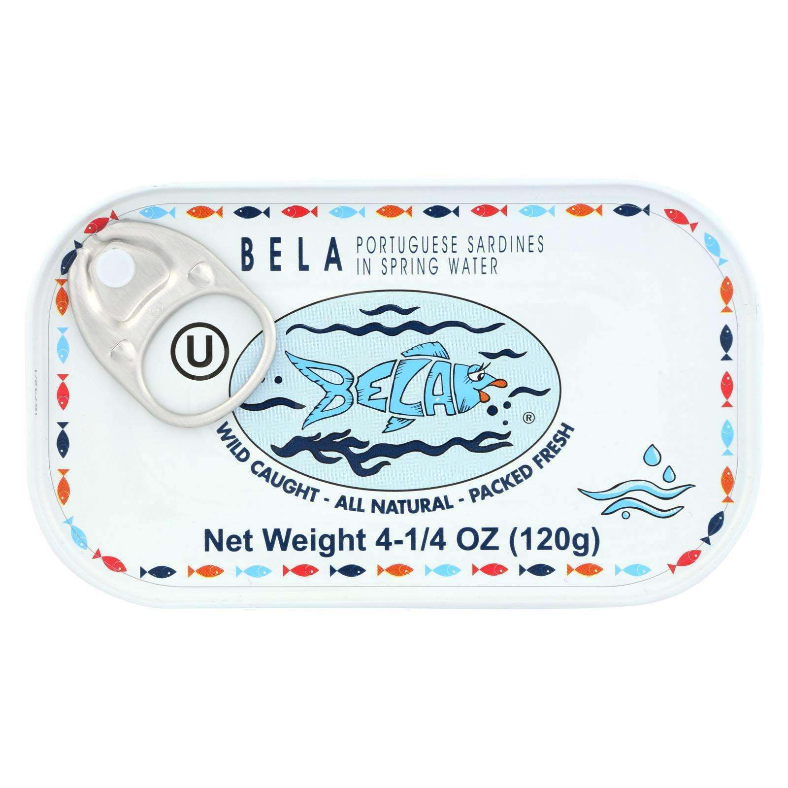 Bela - Olhao Sardines Spring Water - Case Of 12 - 4.25 Oz. - BeeGreen