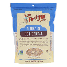 Bob's Red Mill - Cereal 5 Grain Rolled - Case Of 4-16 Oz - BeeGreen