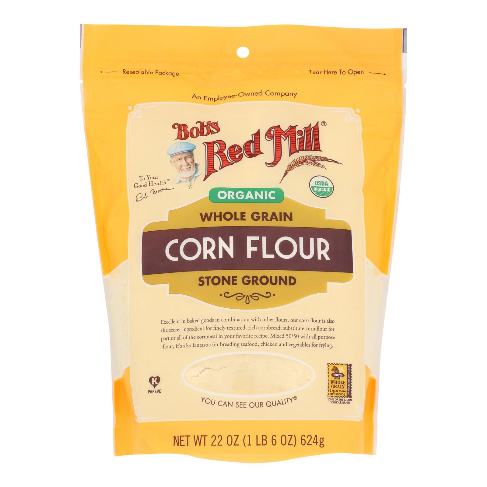 Bob's Red Mill - Flour Corn - Case Of 4 - 22 Oz - BeeGreen