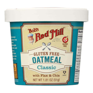Bob's Red Mill - Gluten Free Oatmeal Cup Classic With Flax-chia - 1.81 Oz - Case Of 12 - BeeGreen