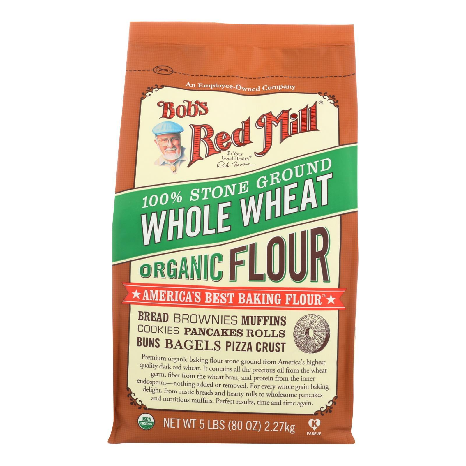 Bob's Red Mill - Organic Whole Wheat Flour - 5 Lb - Case Of 4 - BeeGreen