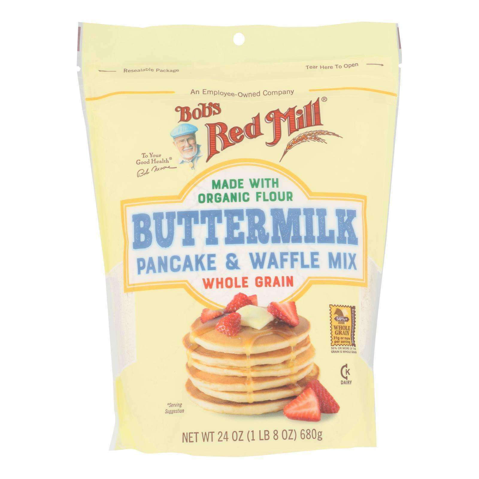 Bob's Red Mill - Pancake-waffle Btrmlk - Case Of 4 - 24 Oz - BeeGreen