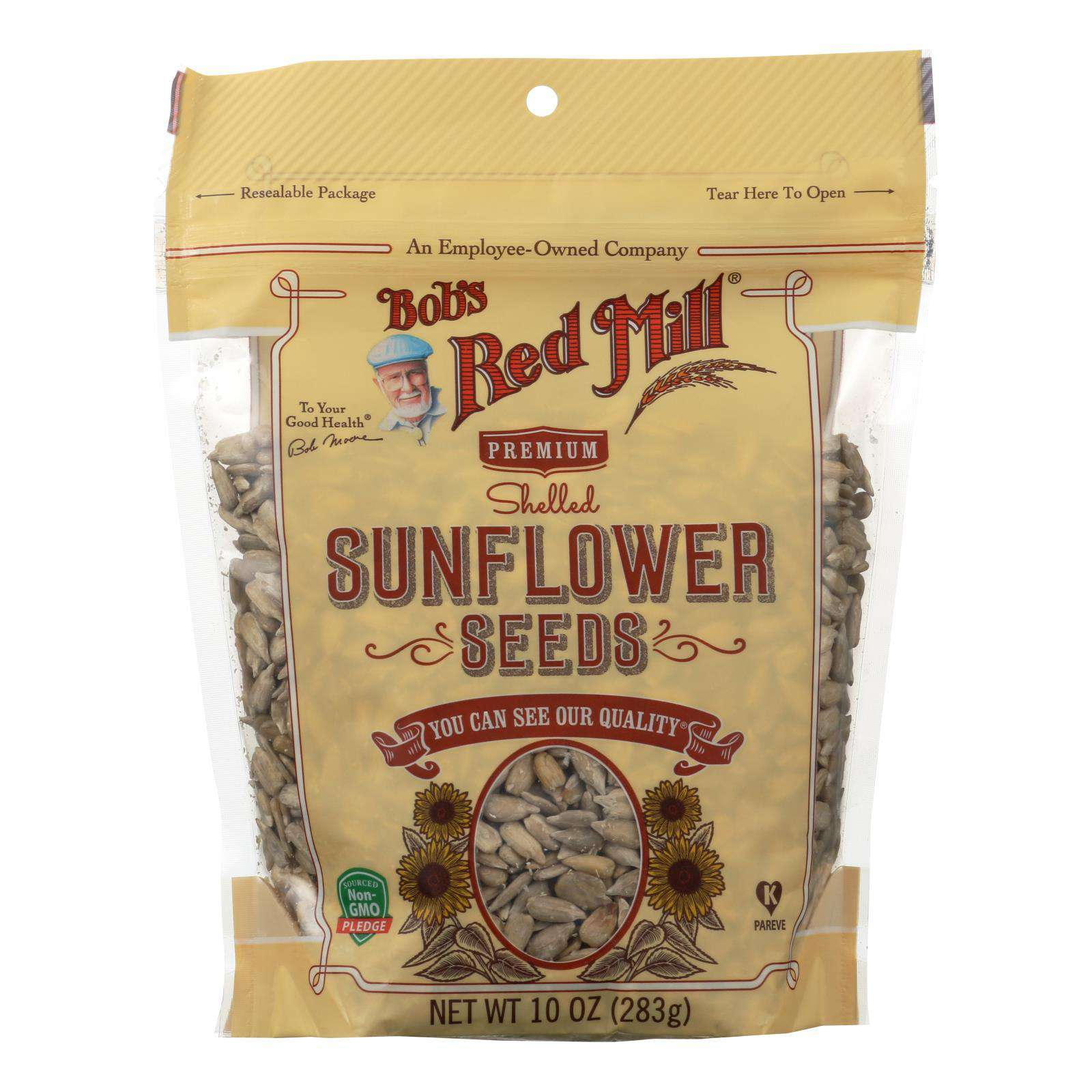 Bob's Red Mill - Seeds - Sunflower - Shelled - Case Of 6 - 10 Oz - BeeGreen