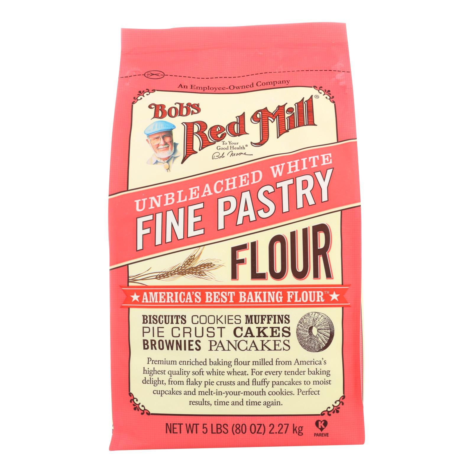 Bob's Red Mill - Unbleached White Fine Pastry Flour - 5 Lb - Case Of 4 - BeeGreen