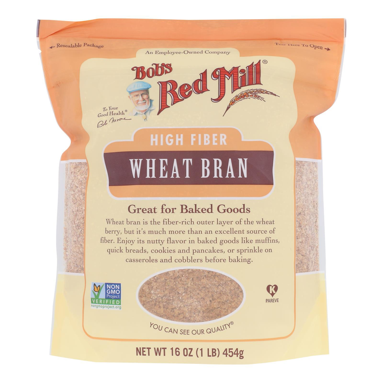 Bob's Red Mill - Wheat Bran - Case Of 4-16 Oz - BeeGreen
