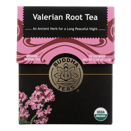 Buddha Teas - Organic Tea - Valerian Root - Case Of 6 - 18 Count - BeeGreen