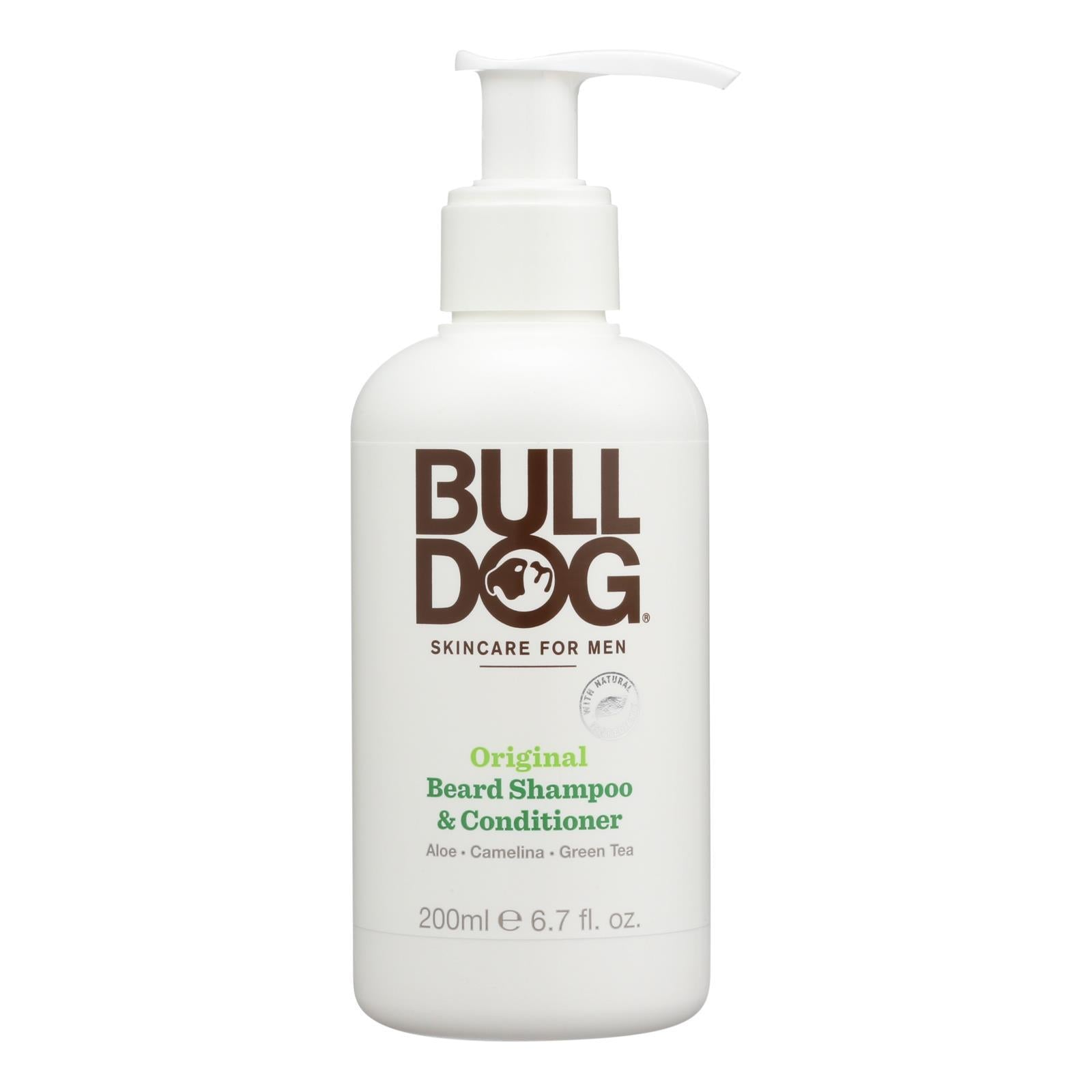 Bulldog Natural Skincare - Beard Shampoo - Conditioner - Original - 6.7 Fl Oz - BeeGreen