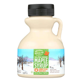 Butternut Mountain Farm - Maple Syrup - Amber Grade A - Case Of 24 - 8 Fl Oz. - BeeGreen