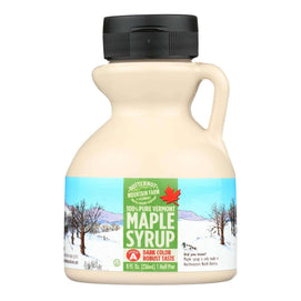 Butternut Mountain Farm - Maple Syrup - Dark Grade A - Case Of 24 - 8 Fl Oz. - BeeGreen