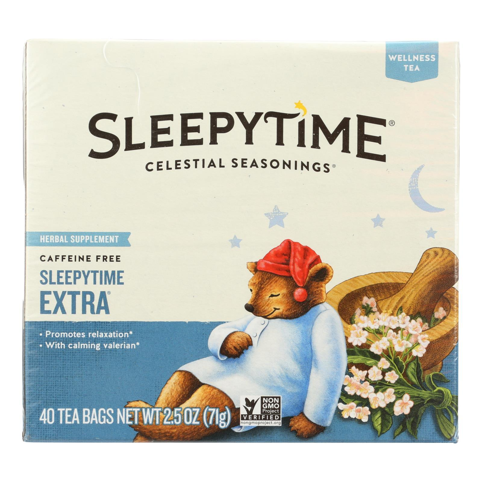 Celestial Seasonings Herb Tea - Sleepytime Extra - Case Of 6 - 40 Bag - BeeGreen