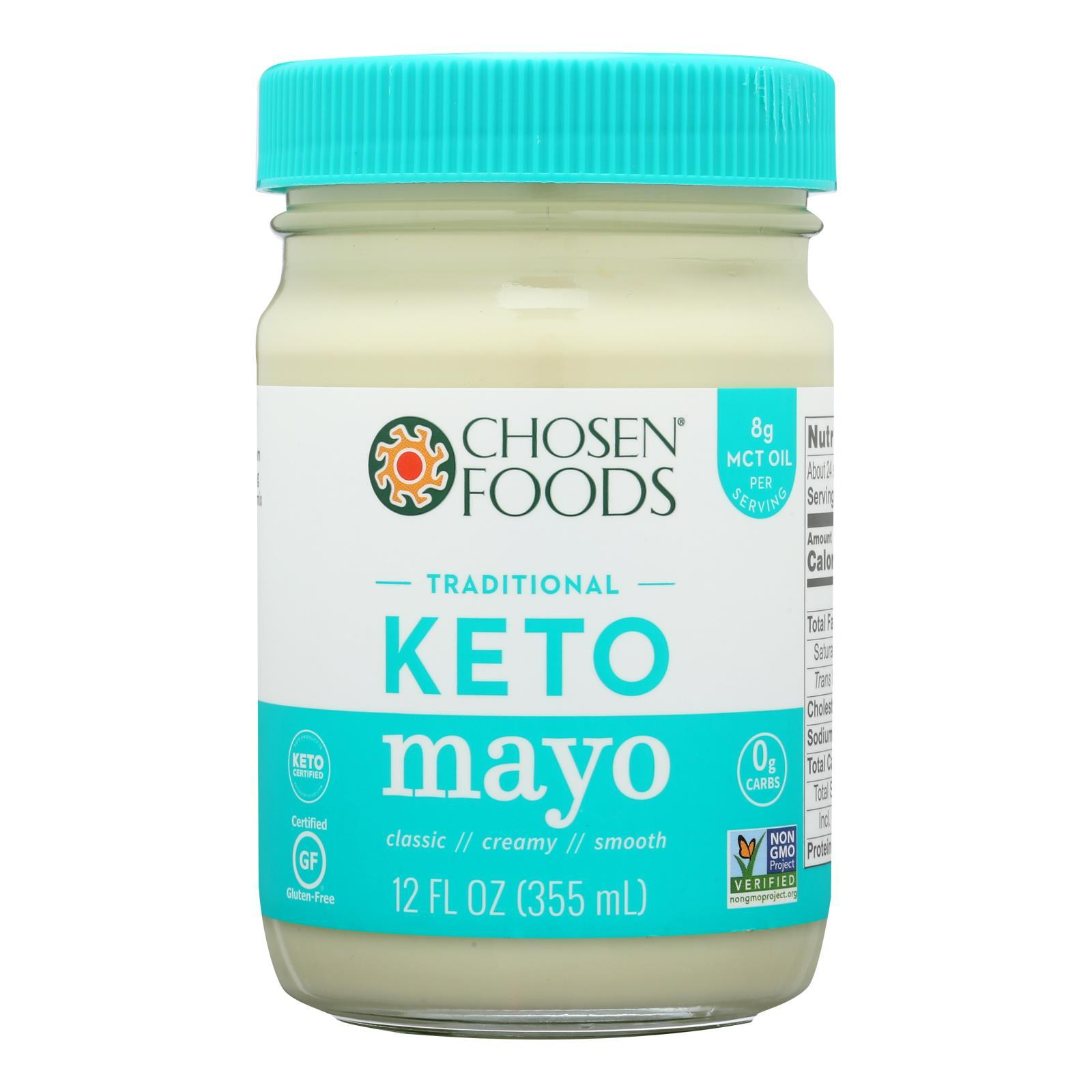 Chosen Foods - Coconut Oil Mayo - Case Of 6 - 12 Fl Oz. - BeeGreen